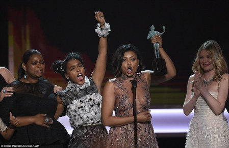 'This story is of unity': Taraji gave a very impassioned speech.