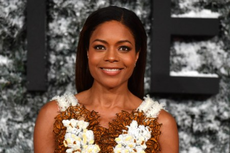 British actor Naomie Harris poses on the red carpet upon arrival at the European premiere of Collateral Beauty in London on December 15, 2016.