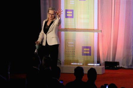 Meryl Streep spoke on Saturday at the Human Rights Campaign's Greater New York Gala in New York City. (Credit: Rob Kim/Getty Images)