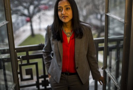 WASHINGTON, DC - MARCH 16: Vanita Gupta is the head of the Civil Rights Division, at her office at the Department of Justice overlooking Pennsylvania Avenue, in Washington DC on Monday, March 16, 2015. (Photo by Melina Mara/The Washington Post via Getty Images)
