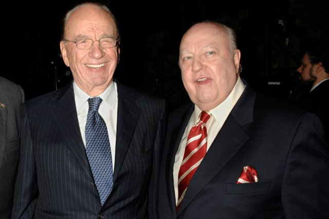 Rupert Murdoch, left, and Mr. Ailes in 2007. They shared the belief that existing news organizations were far too liberal, and started Fox News after Mr. Ailes had a falling out with NBC. Credit Louis Lanzano/Associated Press