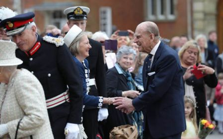 This was the Duke of Edinburgh's first public engagement since announcing his retirement last week