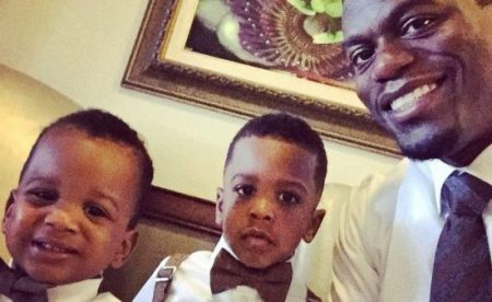(Photo: Facebook/Benjamin Watson) Benjamin Watson with his two sons, Isaiah and Juda.