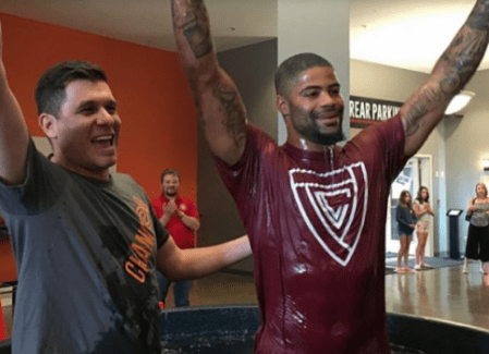 (PHOTO: INSTAGRAM/JAIMEENICOLE_) NFL player Cody Latimer after being baptized at Edge Church in Centennial, Colorado, July 1, 2017.