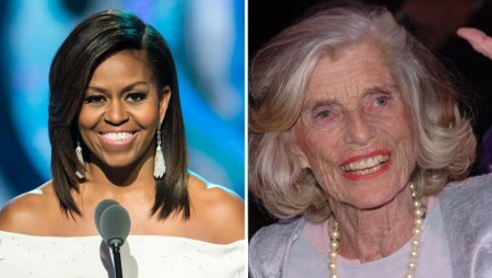 Michelle Obama, left, and Eunice Kennedy Shriver