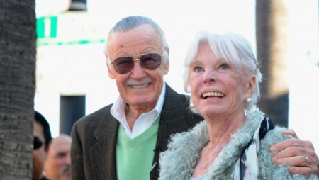 Alberto E. Rodriguez/Getty Images Stan and Joan Lee