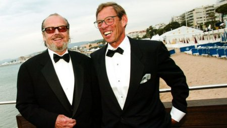 Evan Agostini/Getty Images Harry Gittes (right) and Jack Nicholson at the Cannes Film Festival in 2002