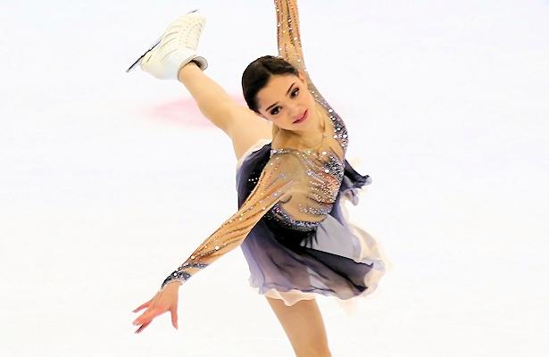 Evgenia Medvedeva performs her Long Program at the 2017 Ondrej Nepela Trophy: Photo © Mikhail Sharov