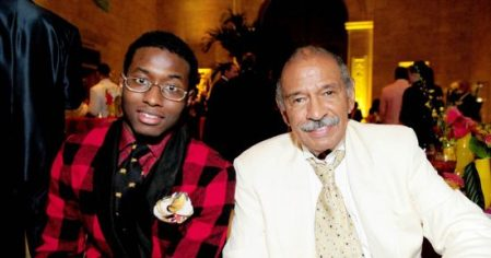 Pictured: John Conyers III with father, former Rep. John Conyers