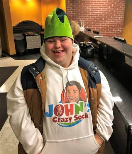 John Cronin knew he wanted to start a business with his dad after he graduated from high school. His love of wild socks became the foundation for the business John's Crazy Socks, which has generated over $1 million in revenue. Courtesy John's Crazy Socks