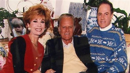 Kathie Lee Gifford with Billy Graham and her husband, Frank Gifford. Kathie Lee Gifford