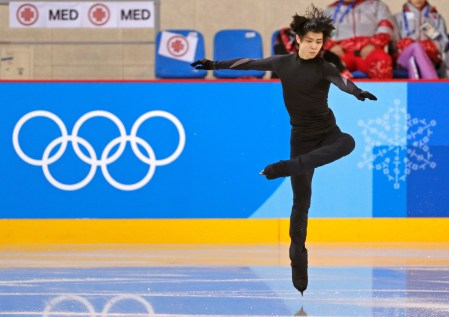 Figure Skating – Pyeongchang 2018 Winter Olympics – Training – Gangneung Ice Arena - Gangneung, South Korea – February 12, 2018 - Yuzuru Hanyu of Japan trains. REUTERS/John Sibley