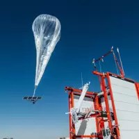 A Loon balloon launches in Nevada