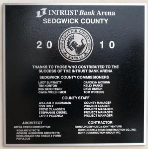 Intrust Bank Arena commemorative monument