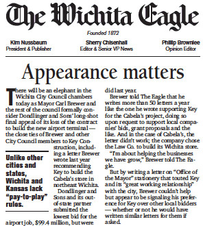 Wichita Eagle Appearance Matters editorial