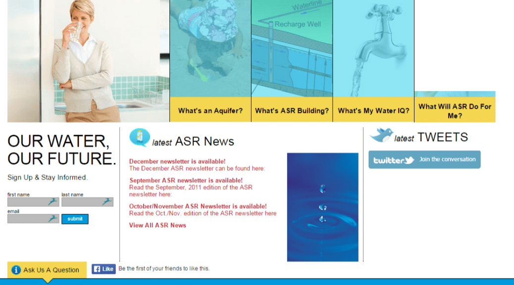ASR website as it appeared in January 2012. Click for larger version.