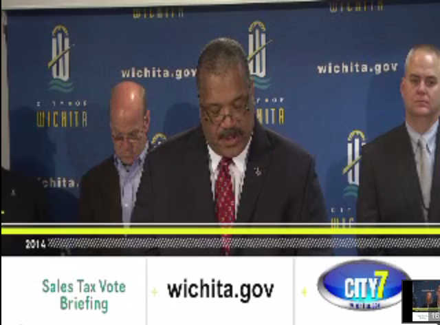 Carl Brewer Wichita Mayor press conference 2014-11-05