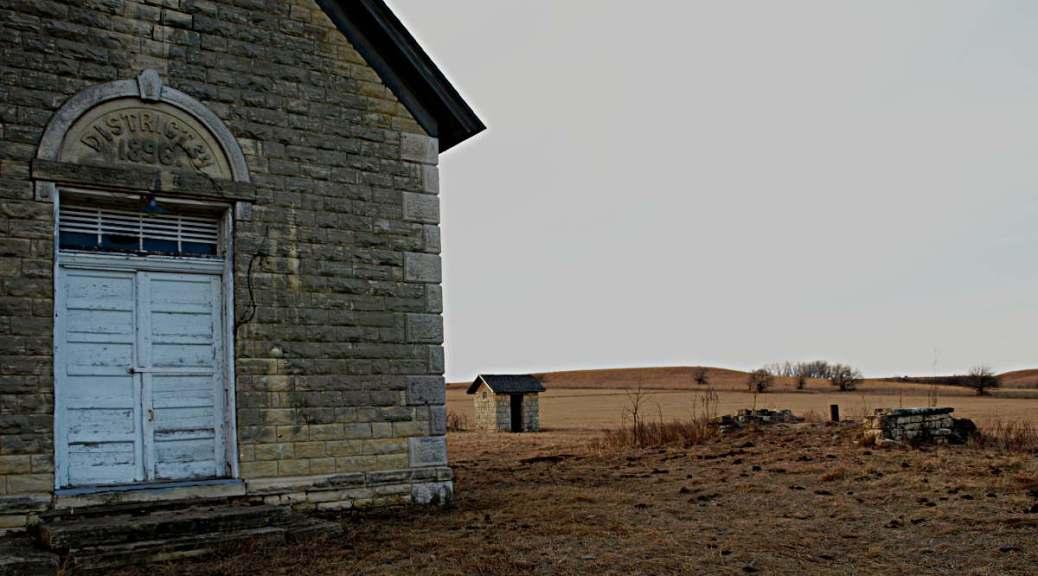 Schoolhouse in Kansas Flint Hills