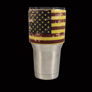 Distressed American Flag Tumbler Sleeve