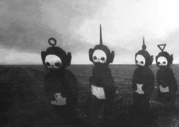 Teletubbies and Joy Division come together