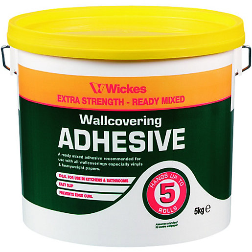 Wickes Ready Mixed Wallpaper Adhesive - 5kg | Wickes.co.uk