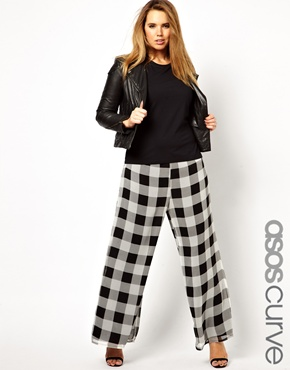 ASOS CURVE Exclusive Check Pant. Image from ASOS.com.