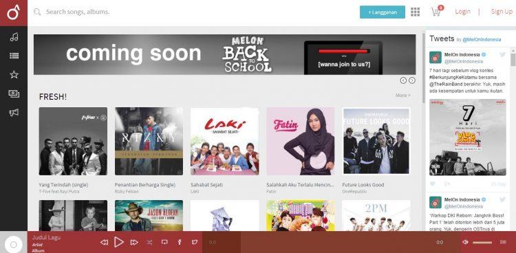 Laman Utama Web Melon Indonesia Tempat Download Lagu