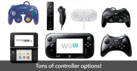 Wii U controller options
