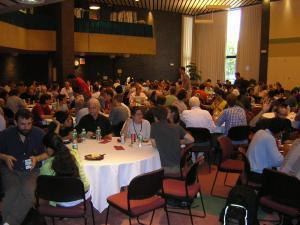 Wikimania 2006 in Cambridge, Massachusetts. Foto: User:Lar. Lizenz: CC-BY-2.5