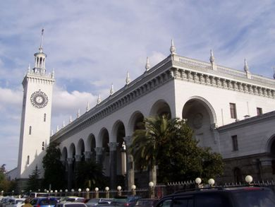 Main railroad terminal of Sochi
