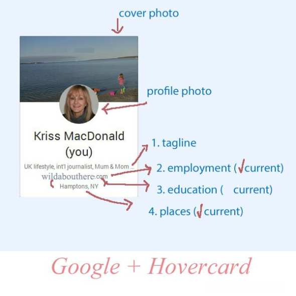 Google Plus hovercard