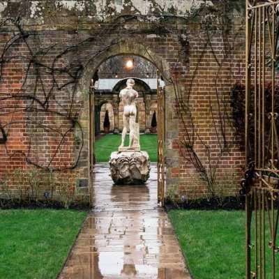 Hever's Italian Garden in winter