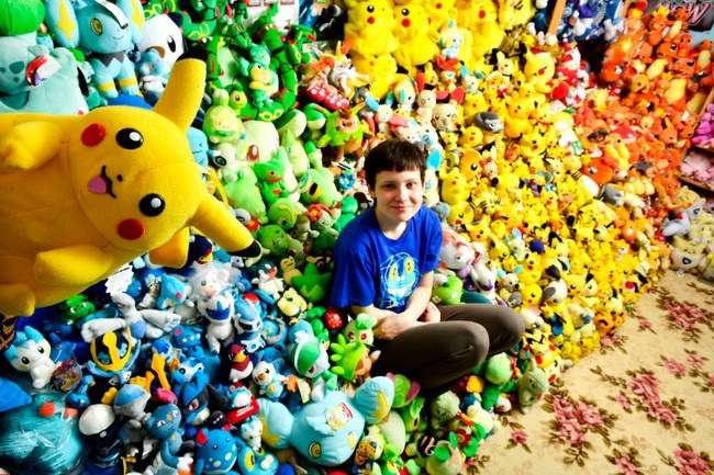 Pokémon Memorabilia : Lisa Courtney from the UK has the official record with 14,410 different Pokémon items as of 2010, but now she has over 16,000.