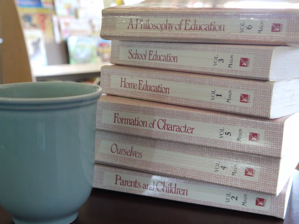 My lovingly worn copies of Charlotte Mason - handed down from my mom to me.  :) And treasured!