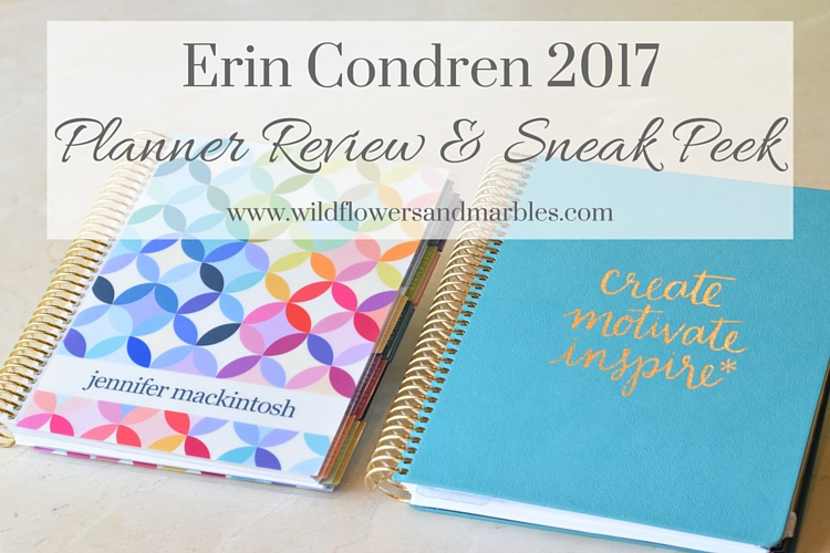 Erin Condren 2017 Life Planner Review {& sneak peek)