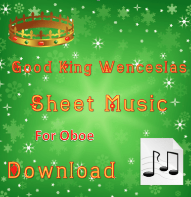 Good King Wenceslas Oboe Sheet Music