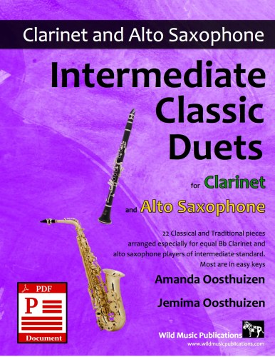 Intermediate Classic Duets for Clarinet and Alto Saxophone Download