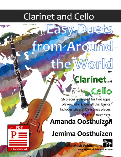 Easy Duets from Around the World for Clarinet and Cello Download