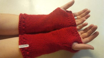Fingerless gloves, reverse