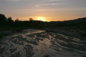 Muddy slough in Apache Canyon