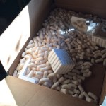 Box of packing peanuts