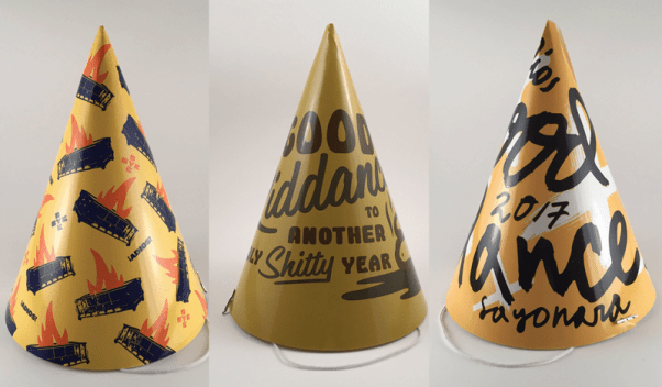 good riddance 2017 party hats