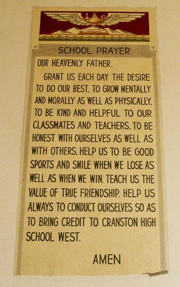 Cranston school prayer.
