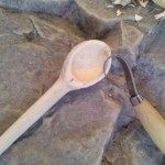 Step # 10: Gently sand the spoon with sand paper.