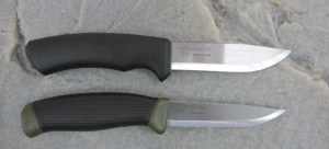 Mora Bushcraft Survival Knife and 840MG (bottom)