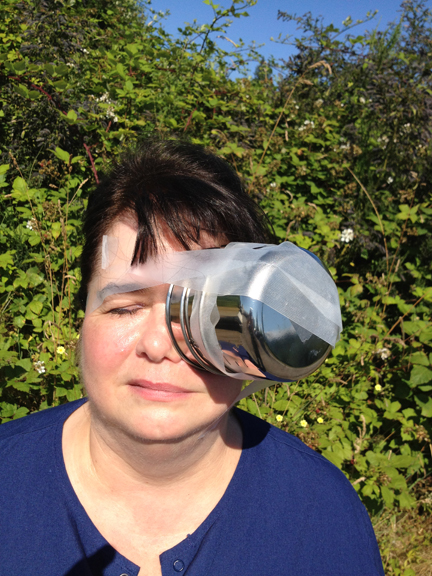 Eye Shield made from Stainless Cup and Tape