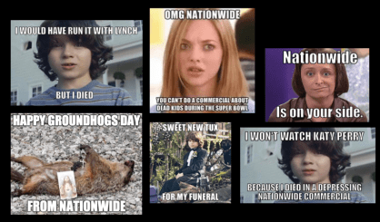nationwide, dead, boy, kid, superbowl, ad, commercial, memes