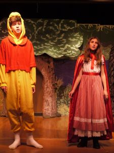 Grant Nalty (my son) as Winnie the Pooh with Jada Reichwein as Red Riding Hood