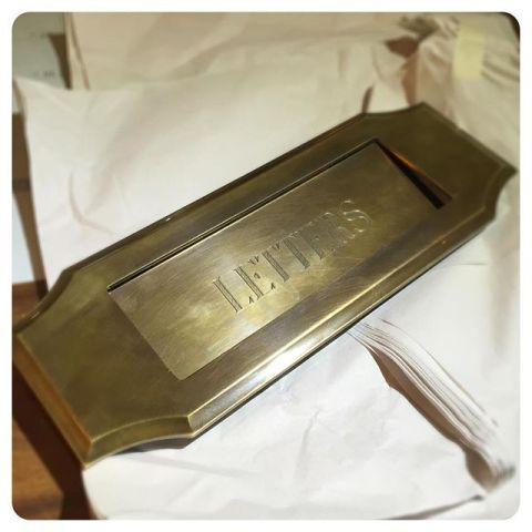 custom brass letter mail slot
