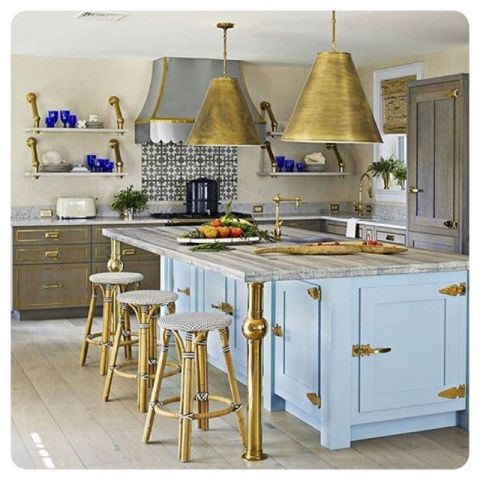 loved seeing our hardware featured in @housebeautiful photo by @mauramcevoy kitchen design by @colleenbashaw